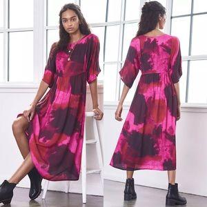 Anthropologie Lysandra Tie-Dye Maxi Dress